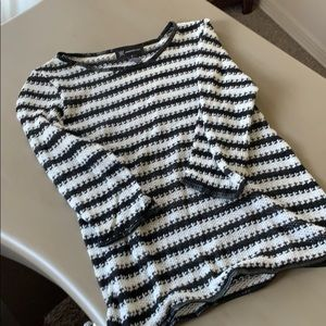 INC Sweater with Faux Leather Trim